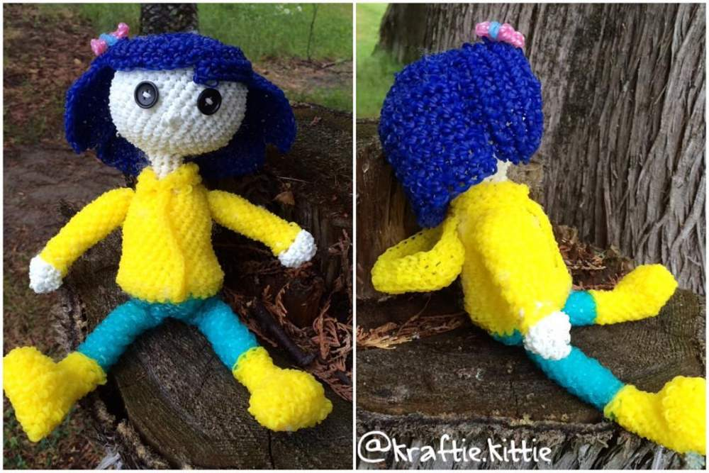 Coraline Doll Loom Community An Educational Do It Yourself Rainbow Loom And Crafting Community