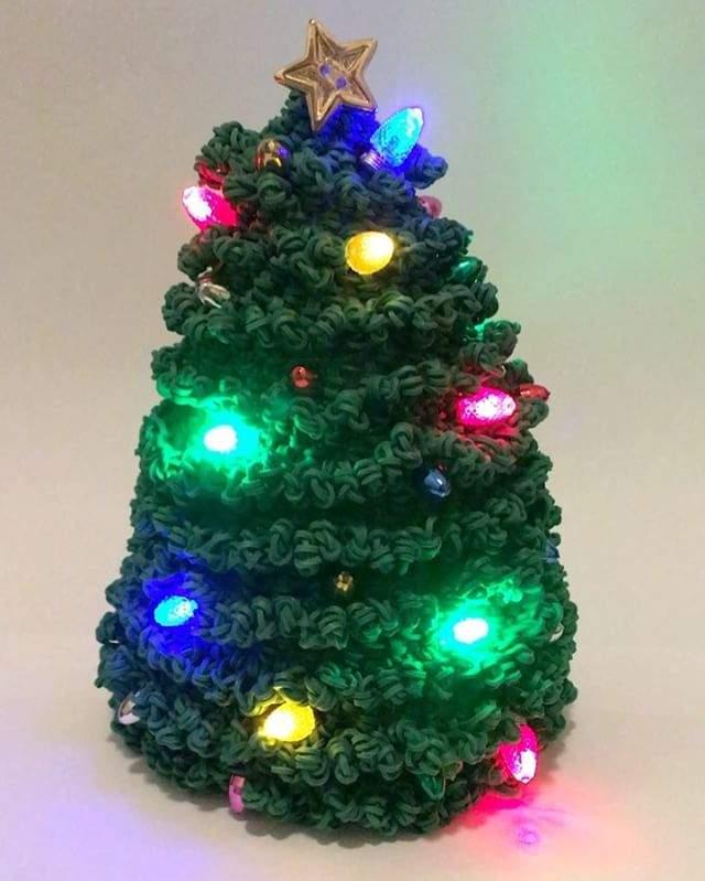 Christmas Tree Rainbow Loom Loomigurumi