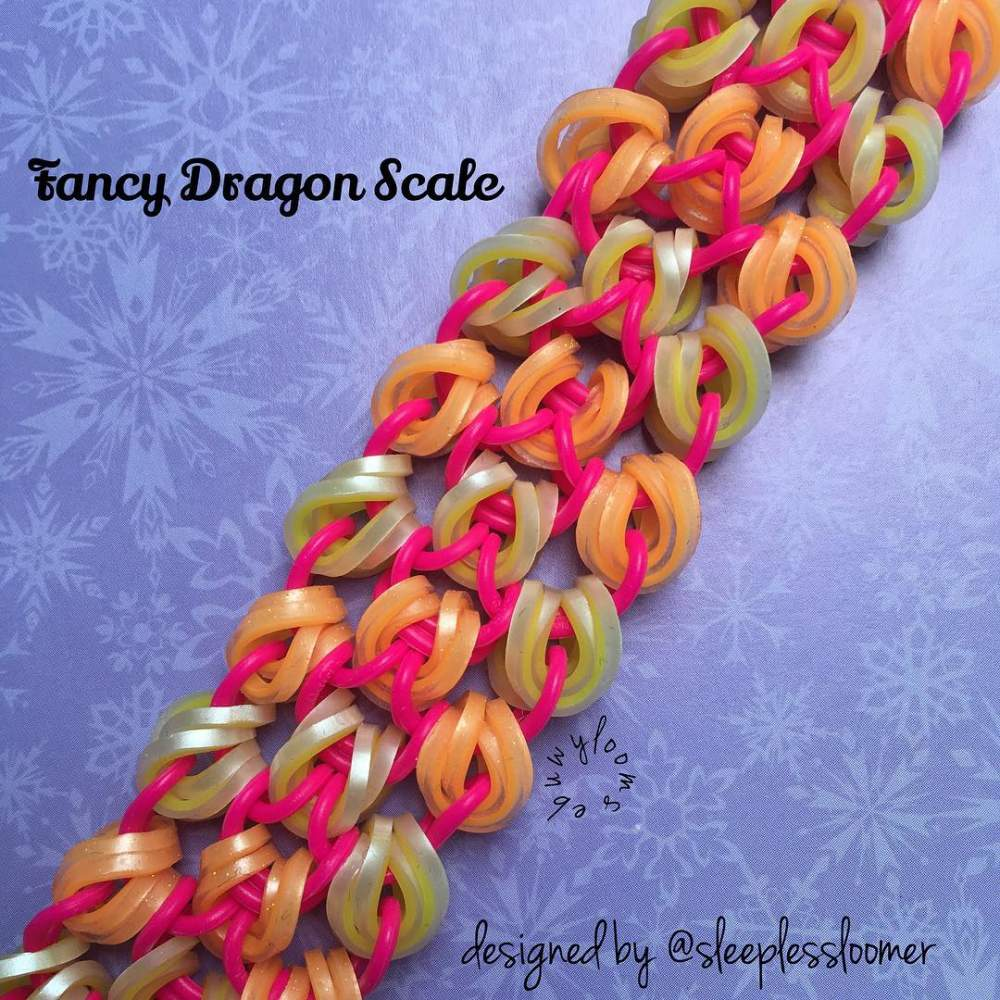 how to make a dragon scale loom bracelet